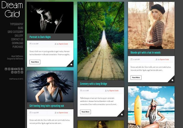 Dream Grid Blogger Theme