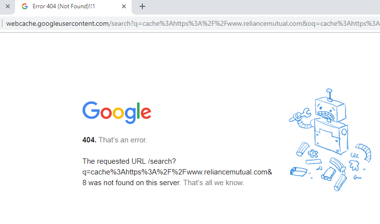 How to Fix Google Cache 404 Error? - A Step by Step Guide | SEO in