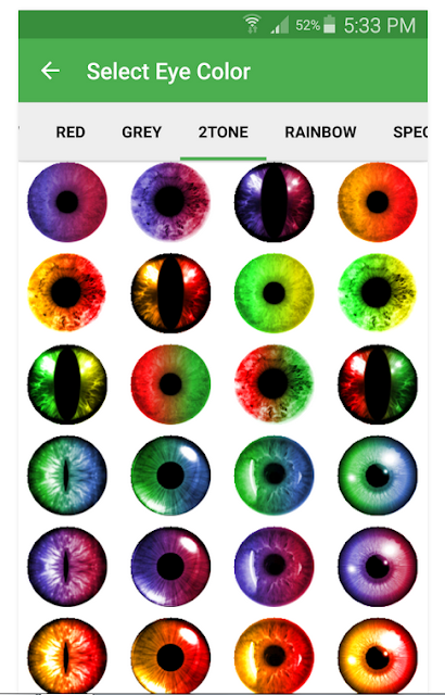 برنامج تغيير لون العين في الصور Eye Color Changer