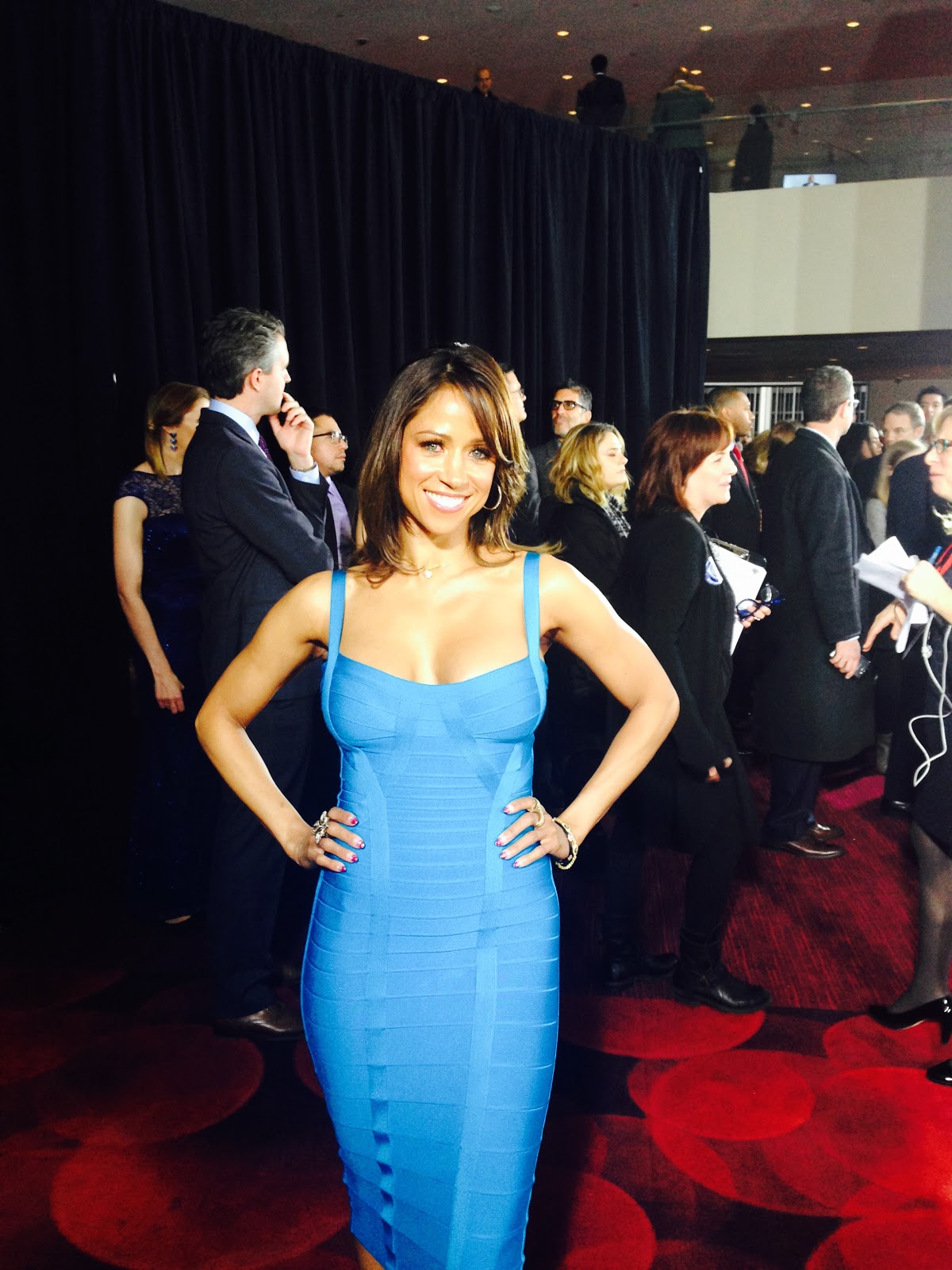 Herve Leger Sightings Stacey Dash At The American Sniper