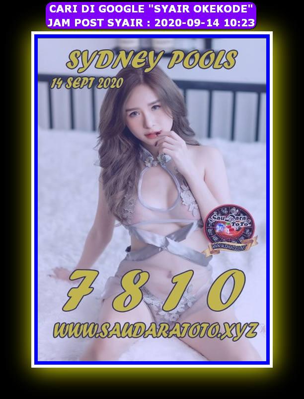 Kode syair Sydney Senin 14 September 2020 167