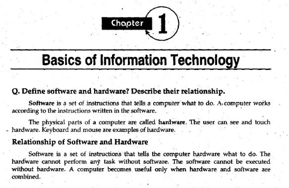 1st Year Computer Science Chapter 1 Notes pdf - 11th class - Ratta pk