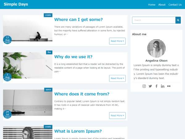 Simple Days Plus WordPress Theme