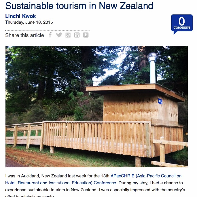 sustainability, tourism, travel, New Zealand, bio loo, sustainable