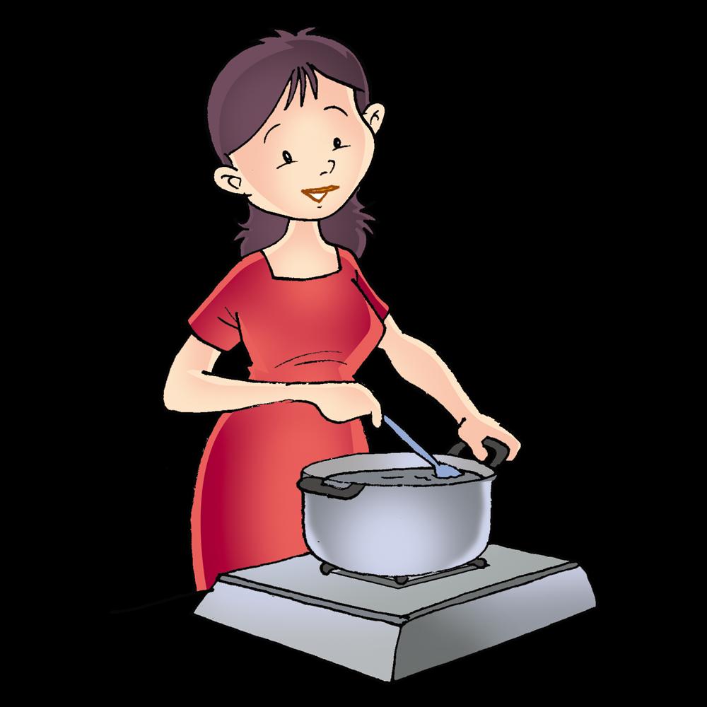 Gambar Kartun Ibu Sedang Masak