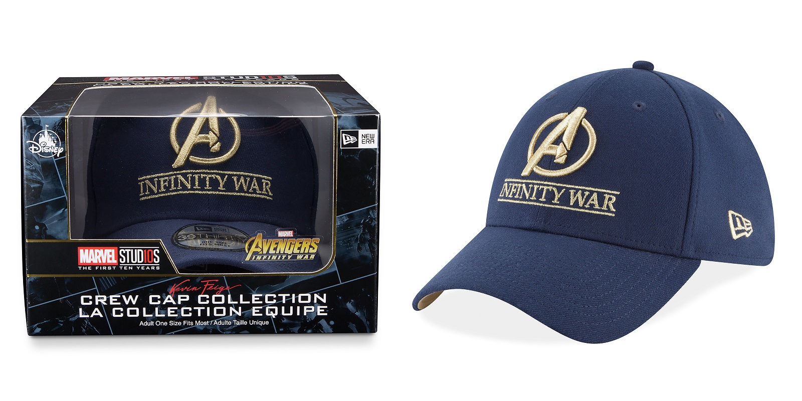 be4438ab084 Avengers  Infinity War Limited Edition Marvel Cast   Crew 39THIRTY Fitted  Hat by New Era Cap x Disney Store
