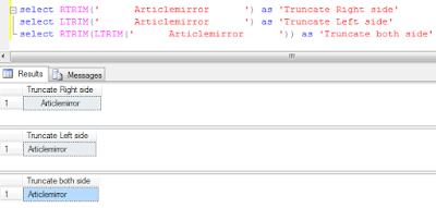 Sql server TRIM function