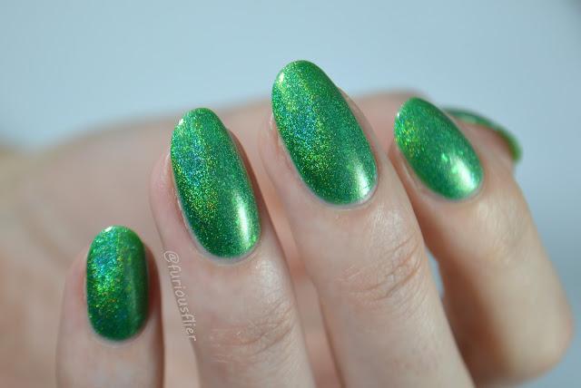 celestial cosmetics valyrio collection kirimvos holo green