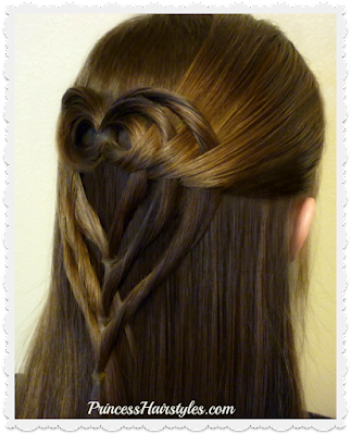 Adorable hairstyle for Valentine's Day! Triple tuck heart hair. Video tutorial. #hearthairstyle #valentinesday