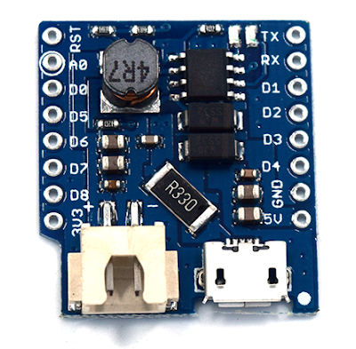 IoT with ESP8266: ESP8266 powered by a solar panel and a