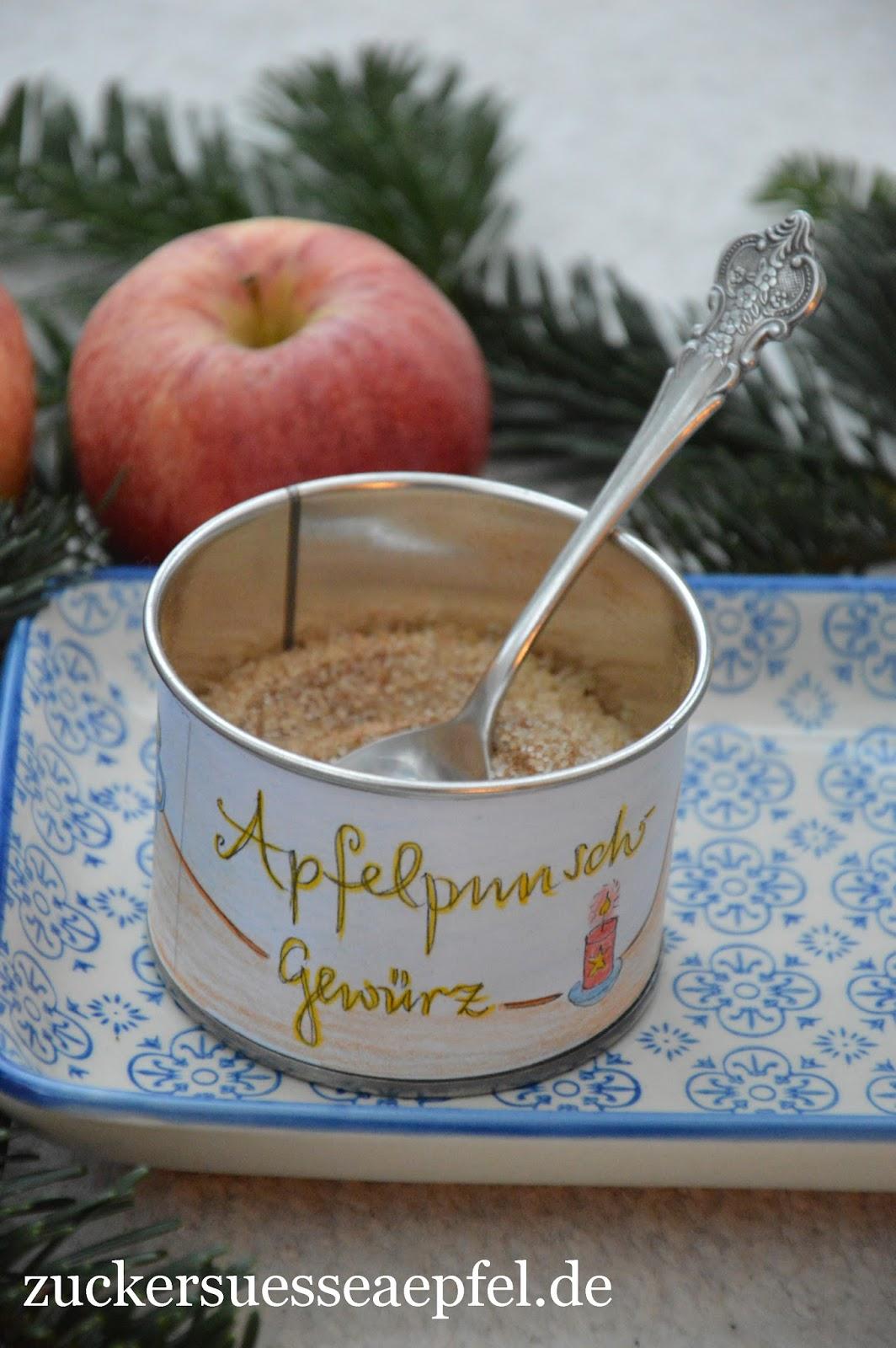 Ein Apfelpunsch-Gewürz als Geschenk aus der Küche | ♥ Zuckersüße ...
