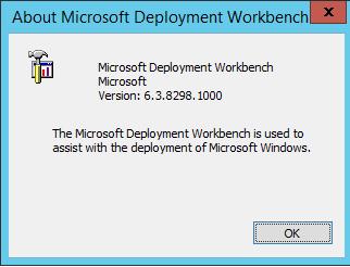 FrontSlash: MDT 2013 Update 1 Version 8298 - Invalid Credentials