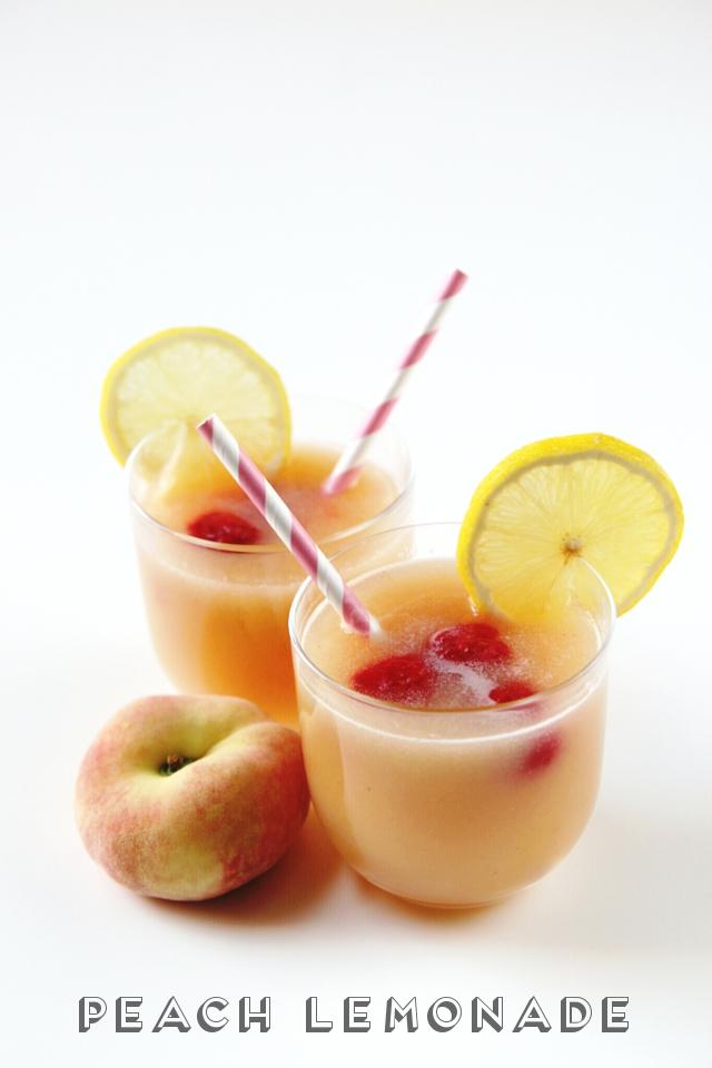 Sweet and Simple Peach Lemonade.