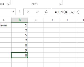 Microsoft Excel SUM formula