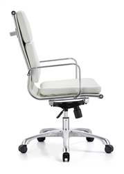 Hendrix White Leather Office Chair