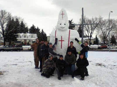 pope snowman