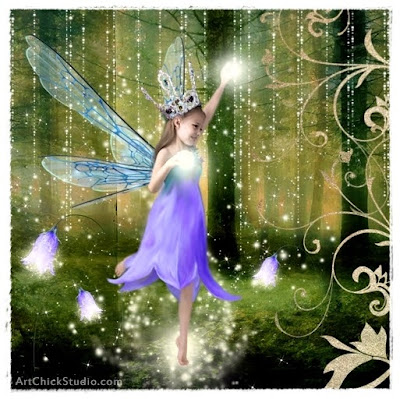 Forest Fairy Princess Digital Collage