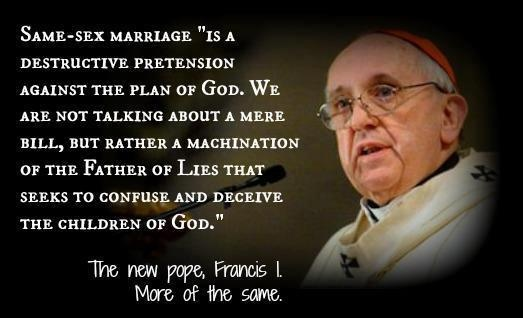 pope benedict on same sex marriage