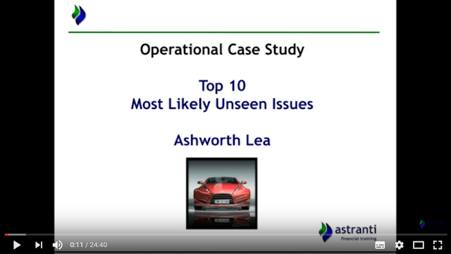 Top 10 issues video for CIMA OCS May 2017  - Ashworth Lea Case