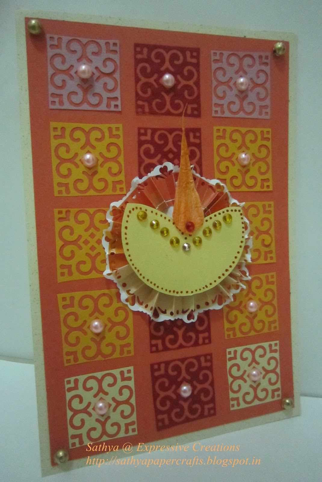 paperie expressions paper quilted diwali card 50th post