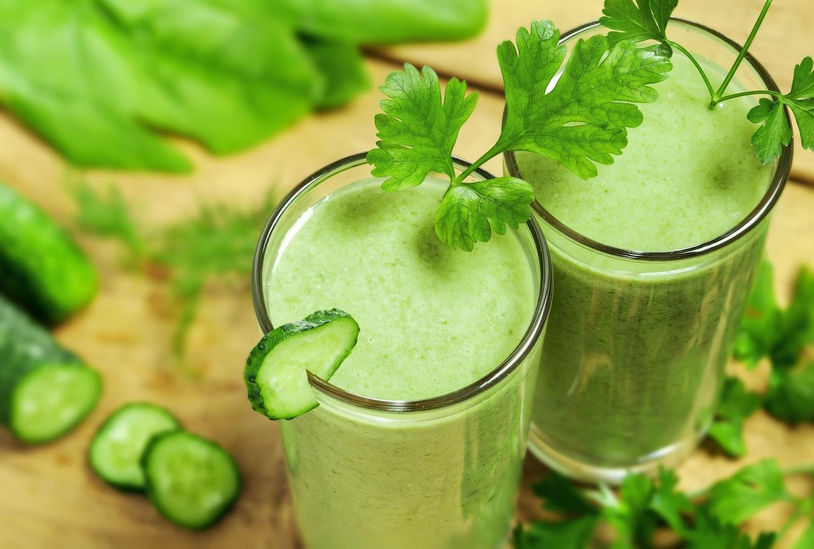 коктейль из зелени рецепт от рака