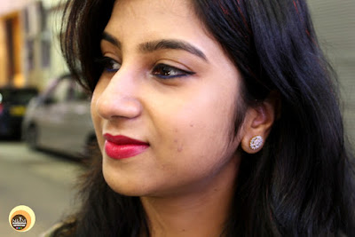 Wearing Zaveri Pearls Earring Studs- OOTD & LOOKPOST-NBAM