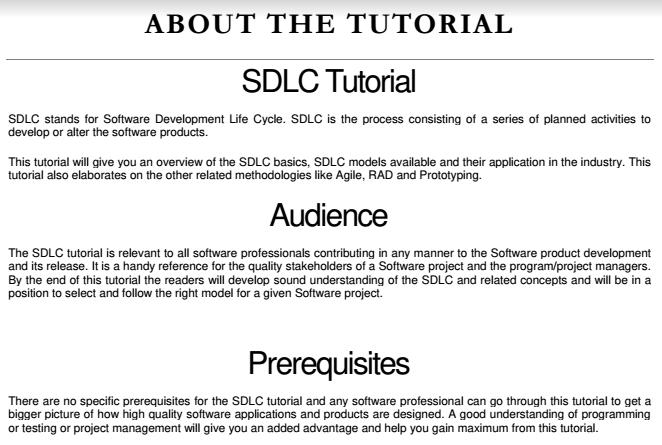IT: SOFTWARE DEVELOPMENT LIFE CYCLE (SDLC) E-book PDF