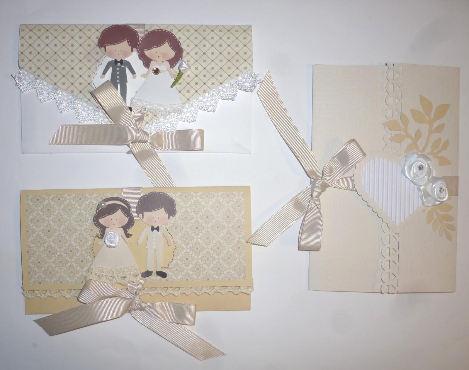 Famoso cartoncino mio: Tre buste per un matrimonio BF54