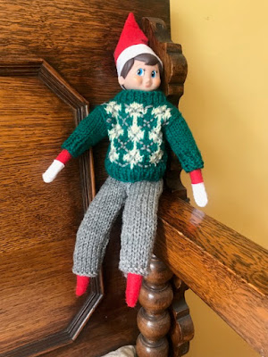 Elf on the Shelf how to knit a sweater and trousers