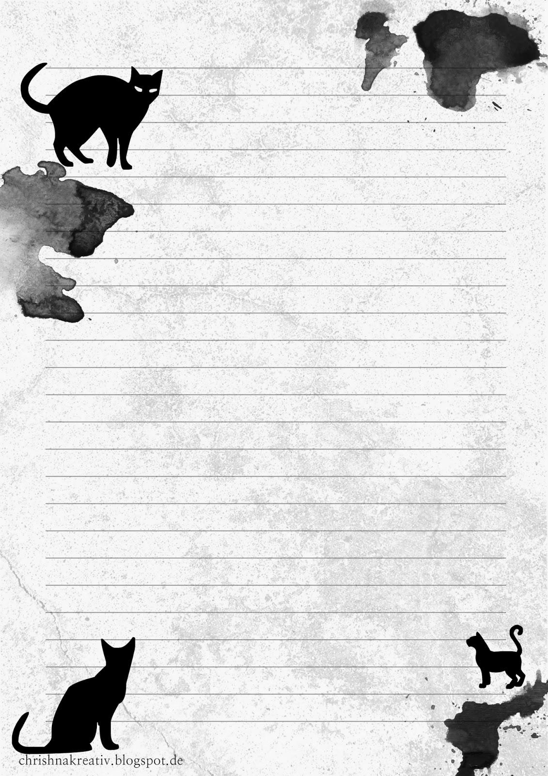 Chrishna Kreativ Schnurrig Schauriges Briefpapier Zu