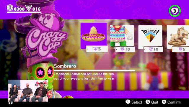 Super Mario Odyssey Crazy Cap Store Sombrero Tostarena