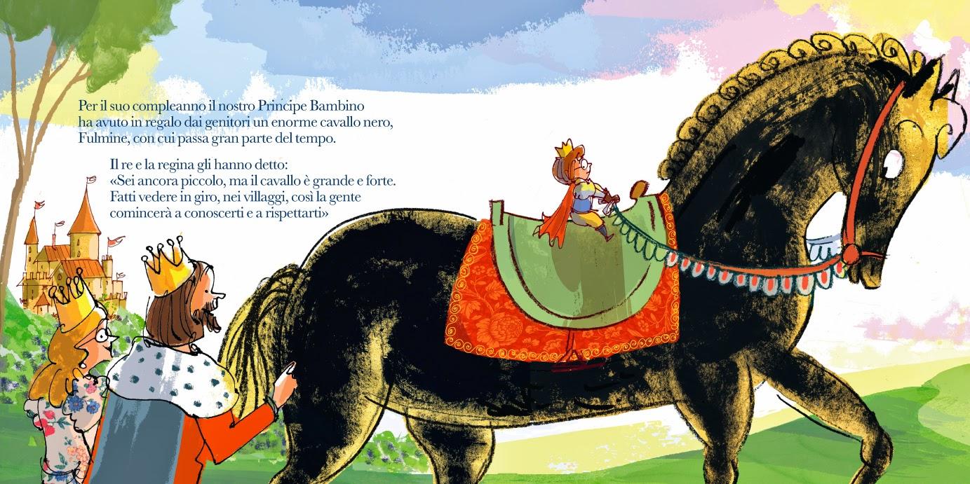 il principino scende da cavallo