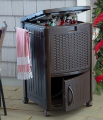 Suncast Resin Wicker Cooler, Wicker Patio Ice Chest Coolers, Wicker Coolers, Wicker Ice Chest Coolers, Outdoor Furniture, Outdoor Patio Furniture, Outdoor Patio Accessories, Outdoor Wicker Furniture