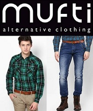 Flat 60% Off on Mufti Men's Clothing @ Jabong