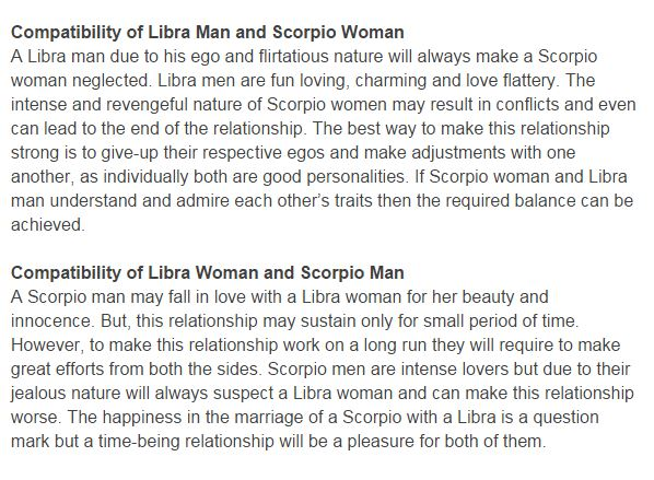 Libra and scorpio marriage compatibility