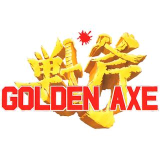 Logo de la saga de videojuegos de SEGA: Golden Axe (1989)
