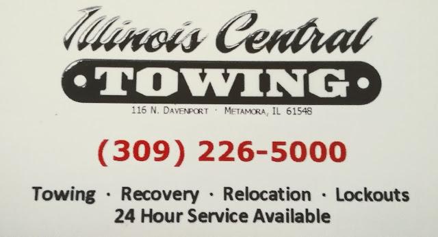 Metamora Herald Towing business card