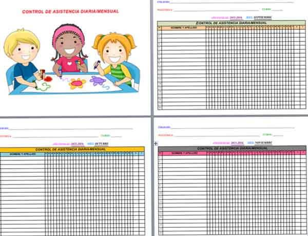 registros de asistencia de alumnos