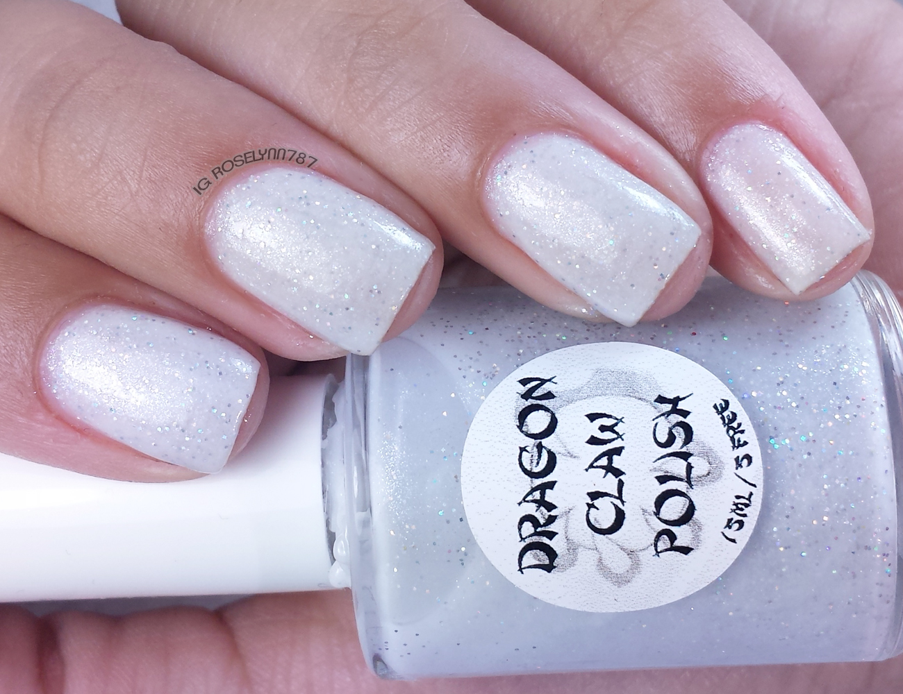Dragon Claw Polish - Holo White Stripes