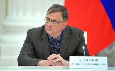 Director of the Far East Division of the Russian Academy of Sciences Research Centre for Marine Biology Andrei Adrianov at a meeting with members of the Russian Academy of Sciences.
