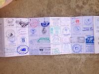 Credential putovnica i pečati camino de Santiago Norte Sjeverni put slike psihoputologija