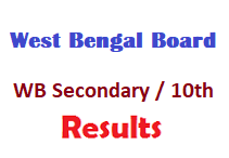 West Bengal WB Board Secondary 10th Results