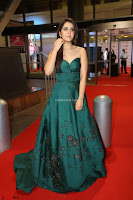 Raashi Khanna in Dark Green Sleeveless Strapless Deep neck Gown at 64th Jio Filmfare Awards South ~  Exclusive 160.JPG
