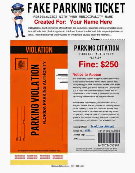 free fake parking ticket template - 41 genius april fools day pranks your kids will totally