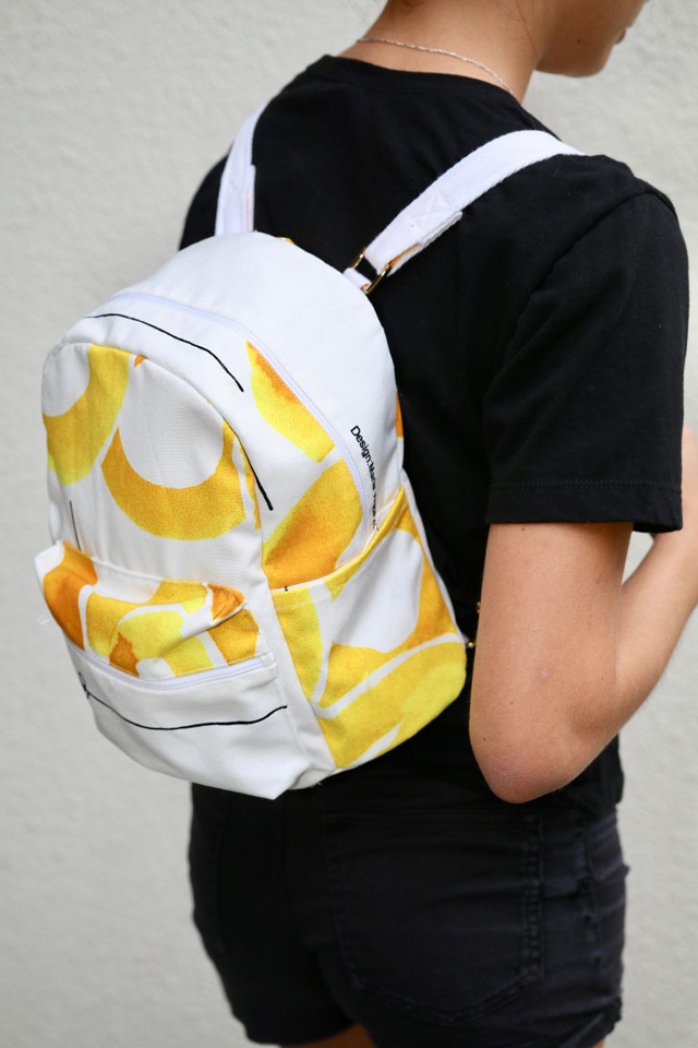 Learn how to sew a small backpack. Tutorial and pattern by So Sew Easy.