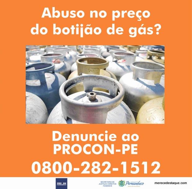 Procon-PE orienta consumidores a denunciarem abusos no preço do gás de cozinha