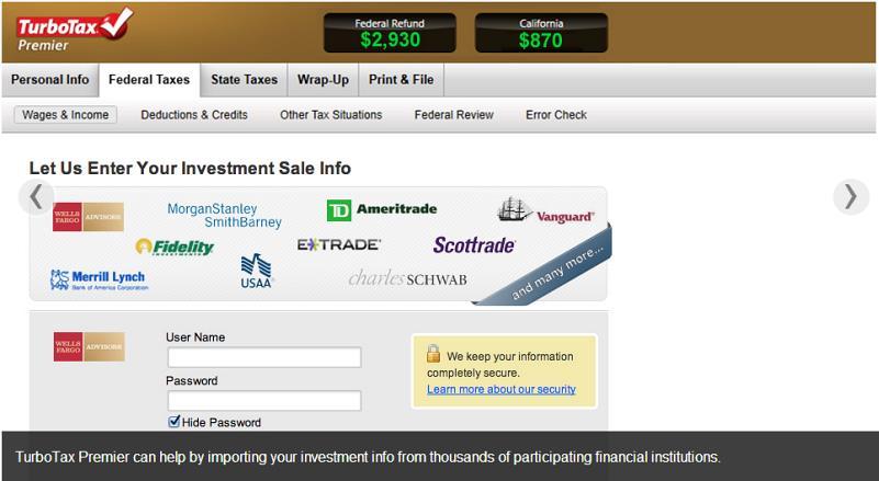 Intuit TurboTax 2013 Screenshot