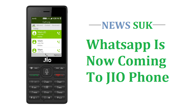 Whatsapp is now coming to JIO phone