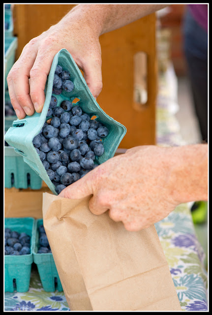 Northside Farmers Market; Blueberries