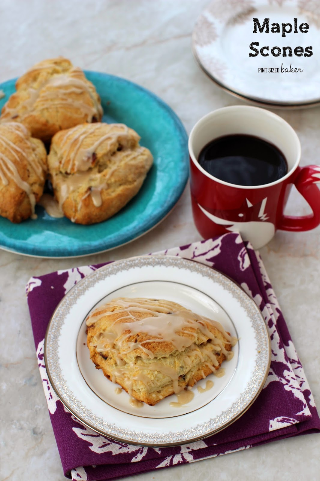 Whip up just 4 Maple Pecan Scones this weekend for the perfect breakfast!